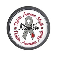 Diabetes Awareness Month 1.3 Wall Clock