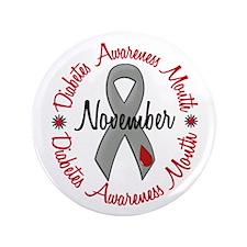 "Diabetes Awareness Month 1.3 3.5"" Button"