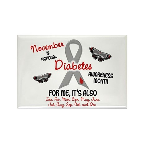Diabetes Awareness Month 2.1 Rectangle Magnet