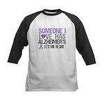 Someone I Love Has Alzheimer's Kids Baseball Jerse