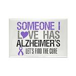 Someone I Love Has Alzheimer's Rectangle Magnet (1