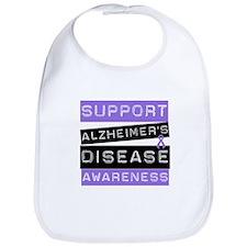 Support Alzheimer's Awareness Bib