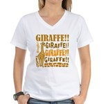 Giraffe!! Women's V-Neck T-Shirt