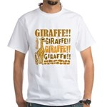 Giraffe!! White T-Shirt