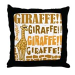 Giraffe!! Throw Pillow