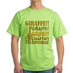 Giraffe!! Green T-Shirt