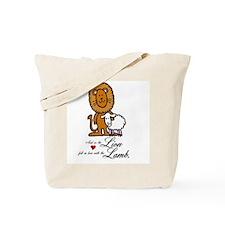 Lion Loves the Lamb Tote Bag
