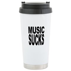 Music Sucks Travel Mug