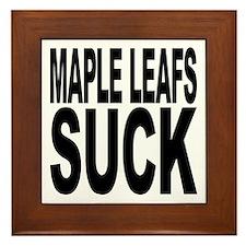 Maple Leafs Suck Framed Tile