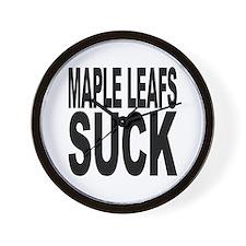 Maple Leafs Suck Wall Clock