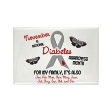 Diabetes Awareness Month 2.2 Rectangle Magnet