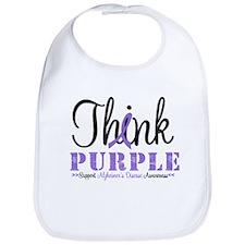 Think Purple Alzheimer's Bib