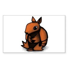 Sitting Armadillo Rectangle Decal