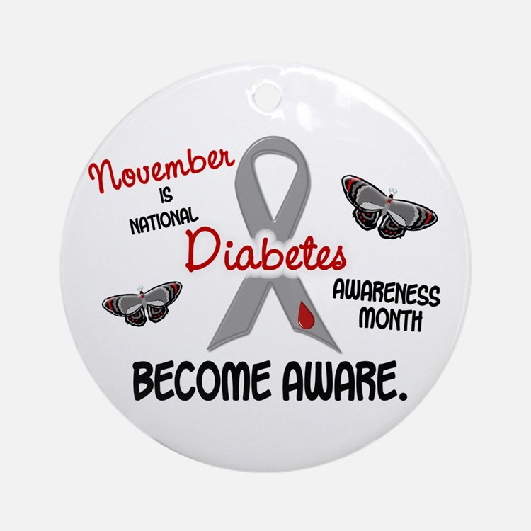 Diabetes Awareness Month 2.3 Ornament (Round)