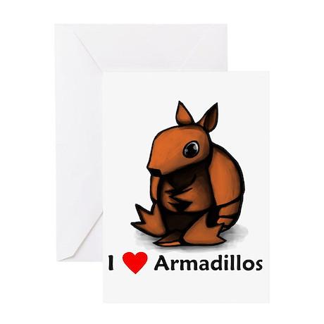 I Love Armadillos Greeting Card
