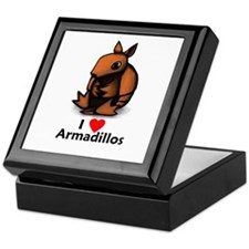 I Love Armadillos Keepsake Box