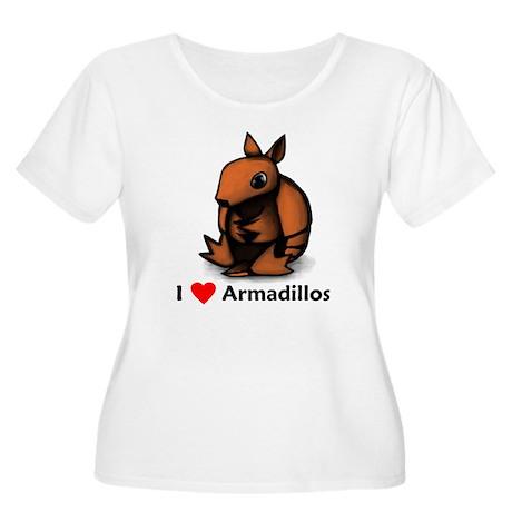 I Love Armadillos Women's Plus Size Scoop Neck T-S
