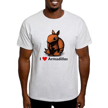 I Love Armadillos Light T-Shirt