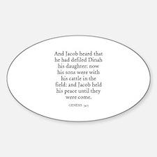 GENESIS 34:5 Oval Decal