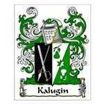 Kalugin Family Crest Small Poster
