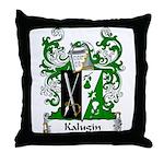 Kalugin Family Crest Throw Pillow