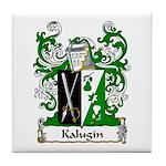Kalugin Family Crest Tile Coaster