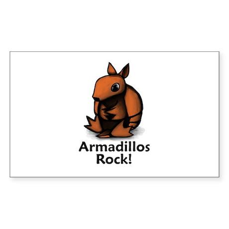 Armadillos Rock! Rectangle Sticker