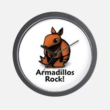 Armadillos Rock! Wall Clock