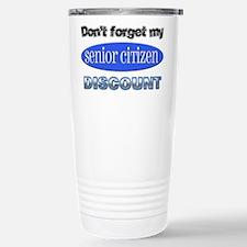 Senior Citizen Discount Travel Mug