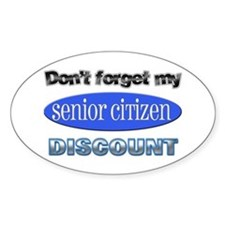 Senior Citizen Discount Oval Decal