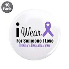 "I Wear Purple (Someone I Love) 3.5"" Button (10 pac"