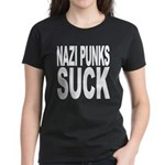 Nazi Punks Suck Women's Dark T-Shirt