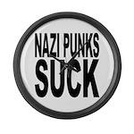Nazi Punks Suck Large Wall Clock