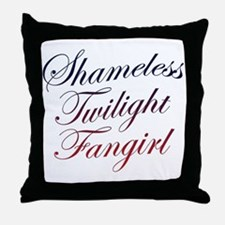 Shameless Twilight Fangirl Throw Pillow