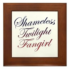 Shameless Twilight Fangirl Framed Tile