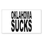 Oklahoma Sucks Rectangle Sticker