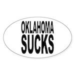 Oklahoma Sucks Oval Sticker