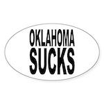 Oklahoma Sucks Oval Sticker (10 pk)