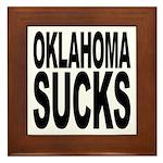 Oklahoma Sucks Framed Tile