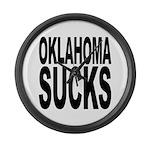 Oklahoma Sucks Large Wall Clock