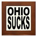 Ohio Sucks Framed Tile