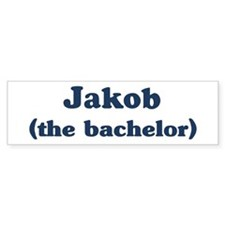 Jakob the bachelor Bumper Bumper Sticker