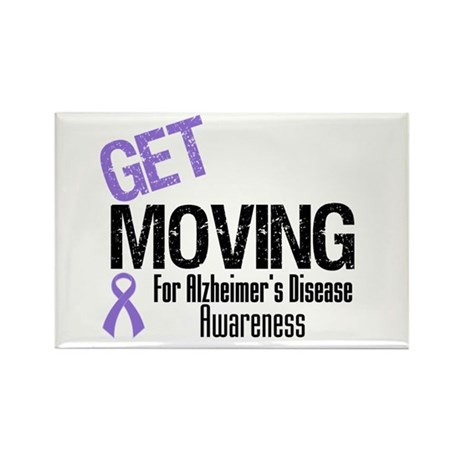 Get Moving Alzheimer's Rectangle Magnet (10 pack)