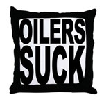 Oilers Suck Throw Pillow