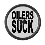 Oilers Suck Large Wall Clock