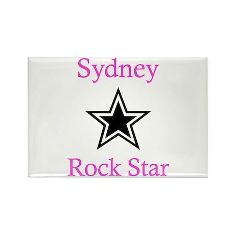 Sydney - Rock Star Rectangle Magnet