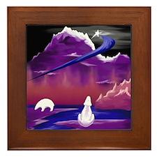 Polar Bears North Star Expressionist Framed Tile