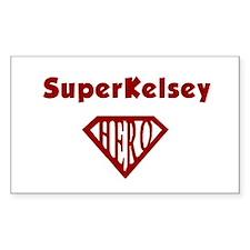 Super Hero Kelsey Rectangle Decal