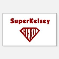 Super Hero Kelsey Rectangle Decal