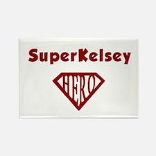 Super Hero Kelsey Rectangle Magnet